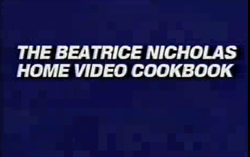 LEGACY VIDEO #3:  VIDEO COOKBOOK featuring family recipes